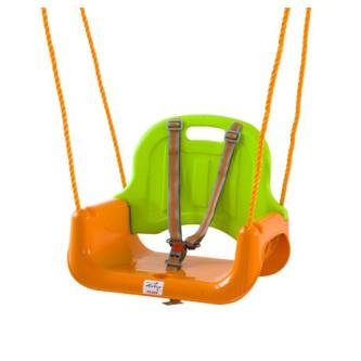BabyGo - Leagan transformabil 3 In 1 - Green Orange