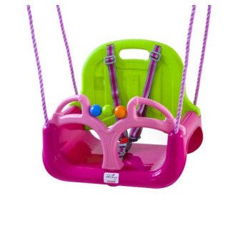 BabyGo - Leagan transformabil 3 In 1 - Pink Green