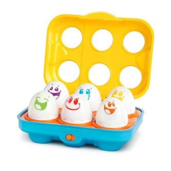 Bright Starts - Jucarie Put N Shake Eggs  -Giggling Gourmet