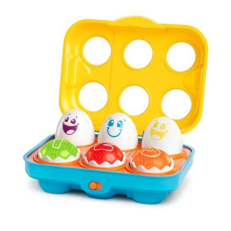 Bright Starts - Jucarie Put N Shake Eggs - Giggling Gourmet