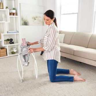 Ingenuity - Leagan portabil Comfort 2 Go Flora the Unicorn