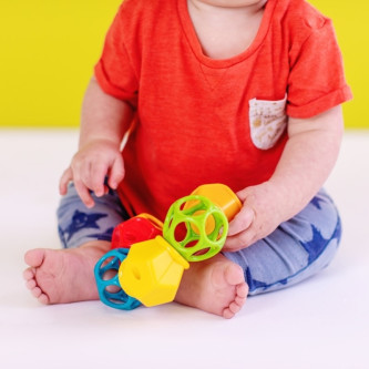 Bright Starts - Jucarie Clicky Twister™ Easy-Grasp Rattle Oball