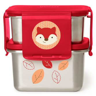 Skip Hop - Kit pentru pranz din otel inoxidabil Zoo - Vulpe