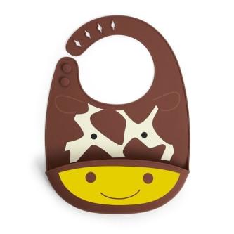 Skip Hop Bavetica de silicon Fold & Go Zoo - Girafa