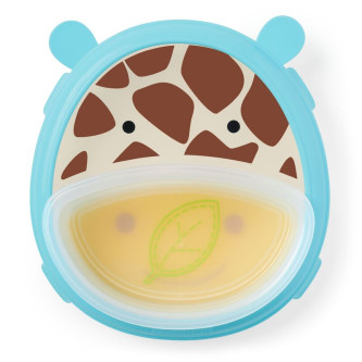 Skip Hop - Set Farfurie & Bol Zoo Smart – Girafa